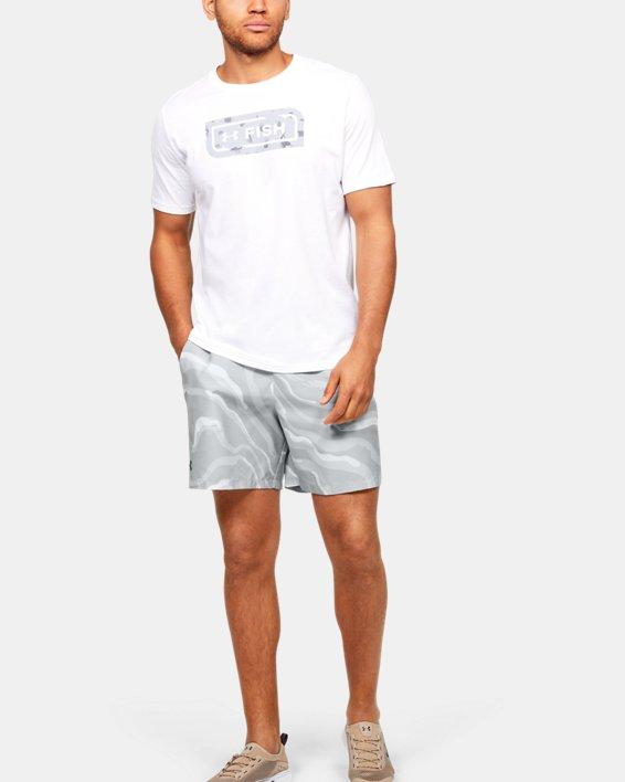 Men's UA Shore Break Volley Shorts, White, pdpMainDesktop image number 0