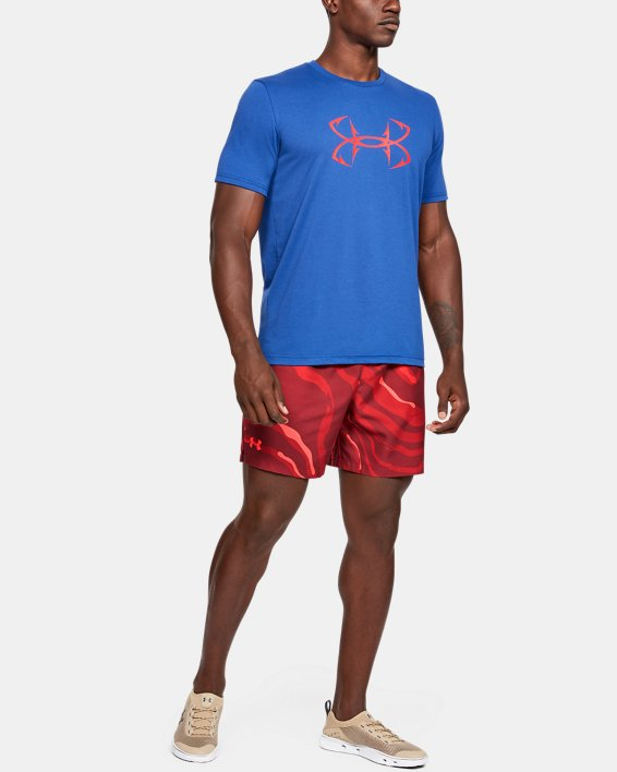 Men's UA Shore Break Volley Shorts, Red, pdpMainDesktop image number 5