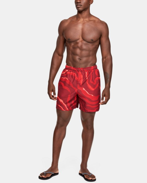 Men's UA Shore Break Volley Shorts, Red, pdpMainDesktop image number 0