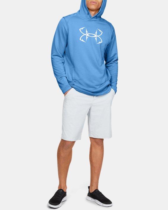 Men's UA Tech™ Terry Fish Hook Hoodie, Blue, pdpMainDesktop image number 1