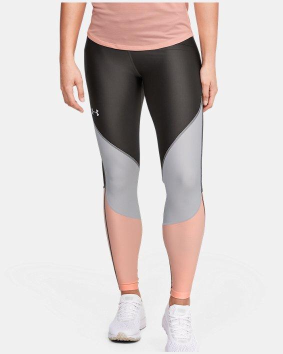 Women's UA Mileage Colorblock Leggings, Gray, pdpMainDesktop image number 0