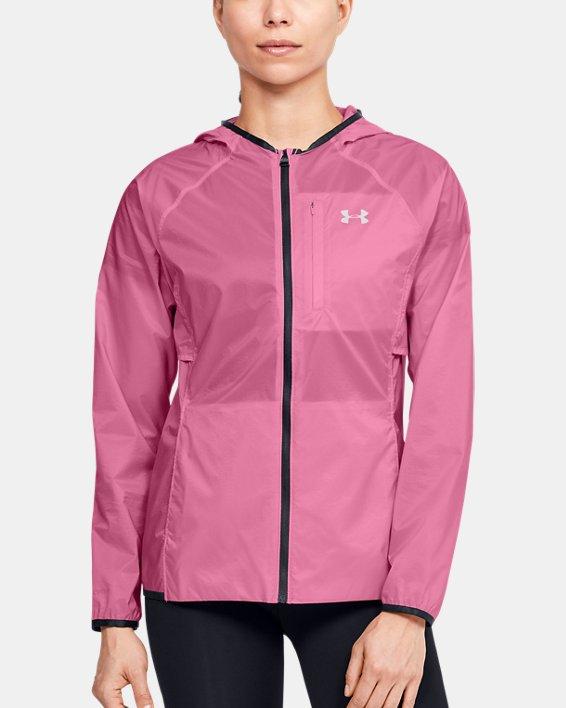 Women's UA Storm Lightweight Jacket, Pink, pdpMainDesktop image number 0