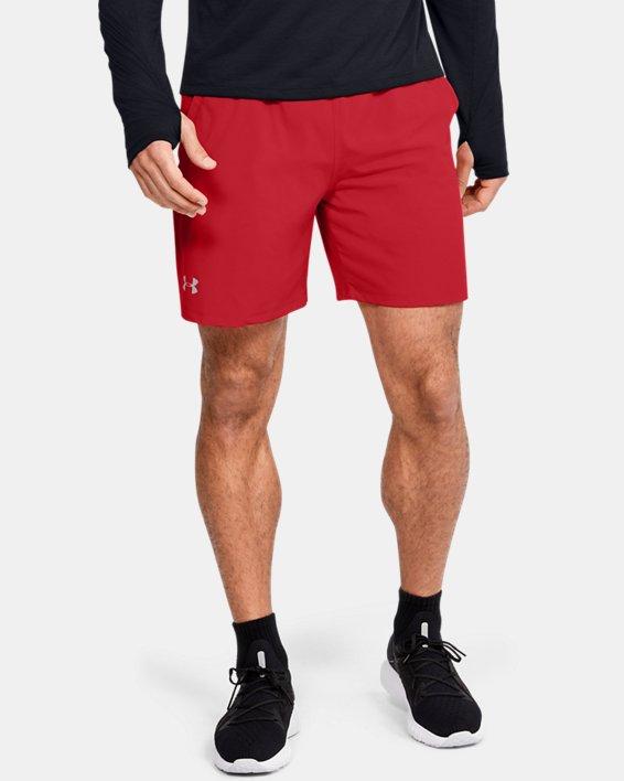 """Men's UA SpeedPocket 7"""" Shorts, Red, pdpMainDesktop image number 0"""