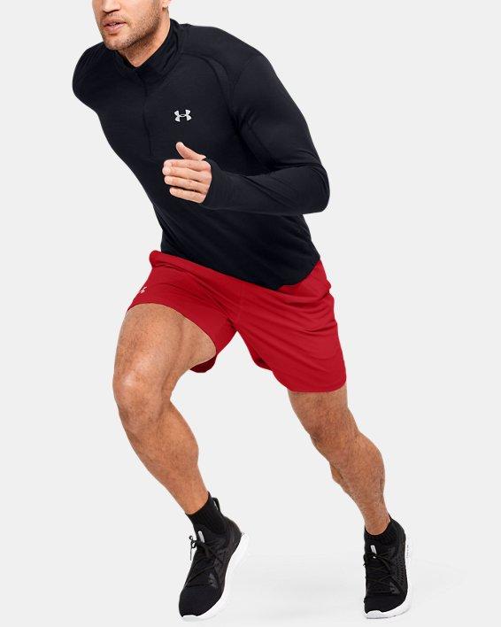 """Men's UA SpeedPocket 7"""" Shorts, Red, pdpMainDesktop image number 1"""