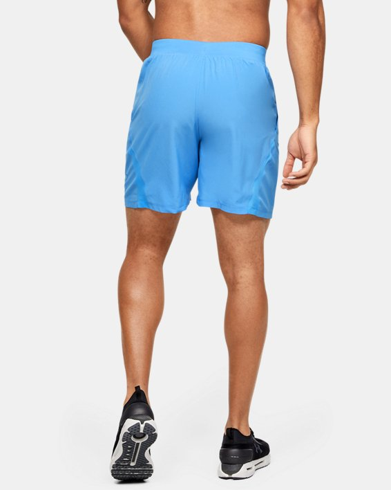 "Men's UA SpeedPocket 7"" Graphic Shorts, Blue, pdpMainDesktop image number 2"