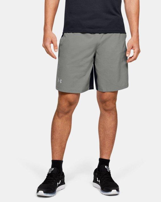 "Men's UA SpeedPocket 9"" Shorts, Green, pdpMainDesktop image number 0"