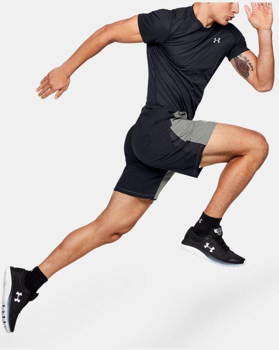 "Men's UA SpeedPocket 9"" Shorts, Green, pdpMainDesktop image number 1"