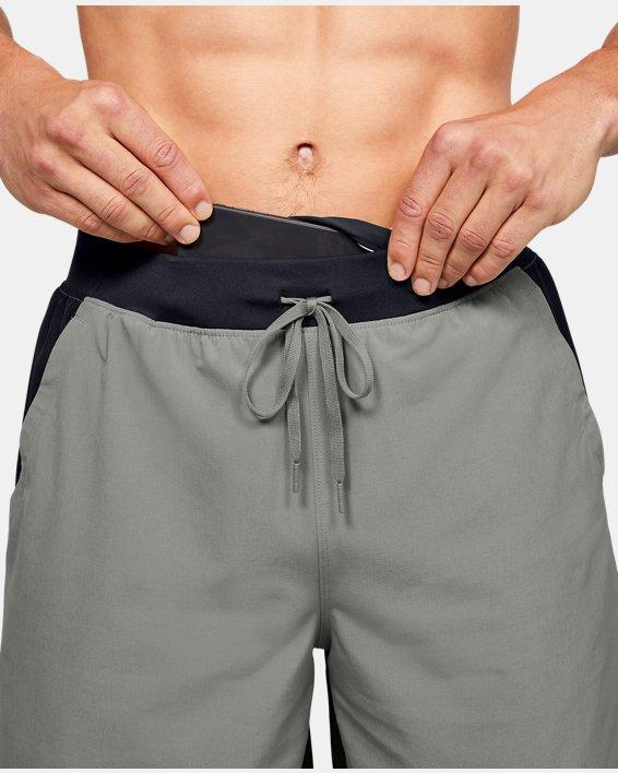 "Men's UA SpeedPocket 9"" Shorts, Green, pdpMainDesktop image number 5"
