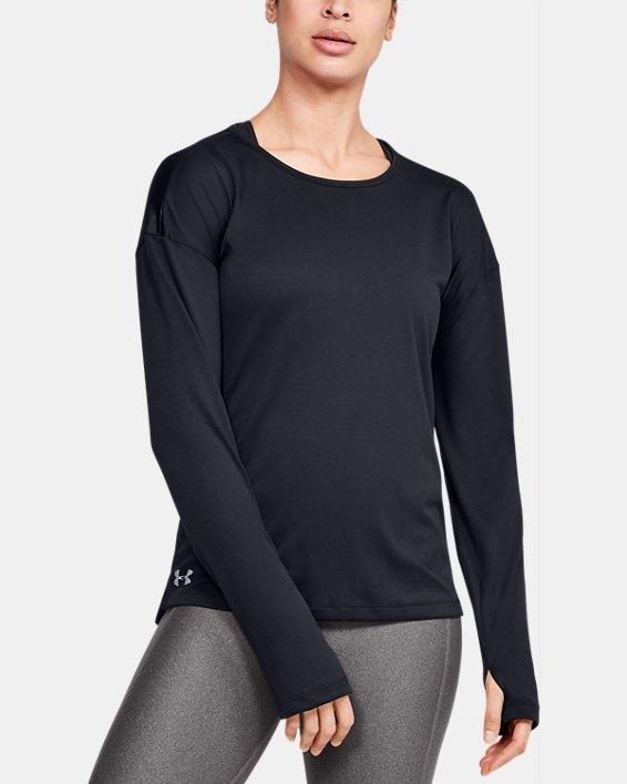 Women's UA Locker Emboss Long Sleeve, Black, pdpMainDesktop image number 0