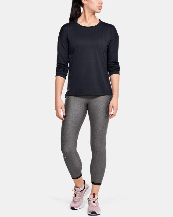 Women's UA Locker Emboss Long Sleeve, Black, pdpMainDesktop image number 1