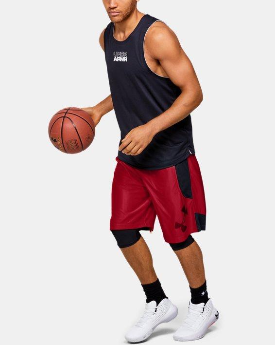 Men's UA Perimeter Shorts, Red, pdpMainDesktop image number 1