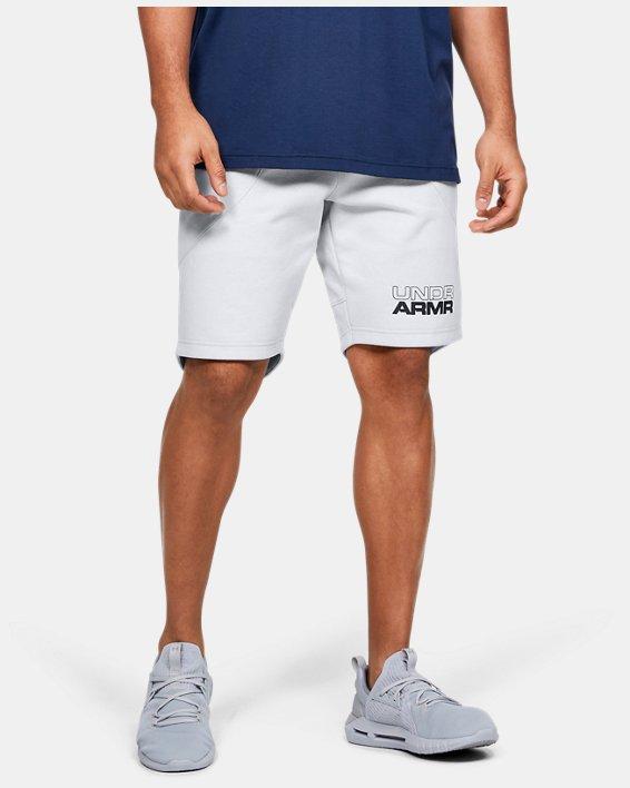 Men's UA Baseline Fleece Shorts, Gray, pdpMainDesktop image number 0