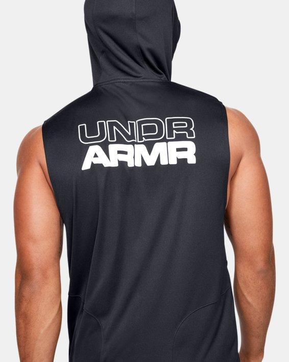 Men's UA Baseline Sleeveless Hoodie, Black, pdpMainDesktop image number 5