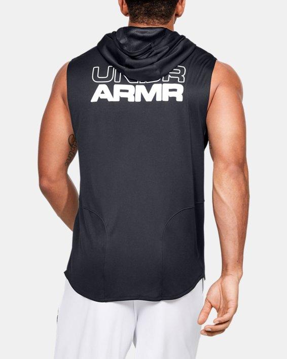 Men's UA Baseline Sleeveless Hoodie, Black, pdpMainDesktop image number 0