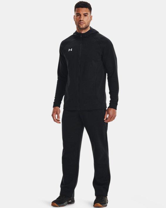 Men's UA Hustle Fleece Full Zip Hoodie, Black, pdpMainDesktop image number 1