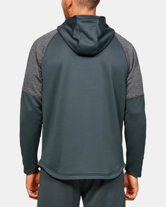 Men's UA Qualifier Fleece Anorak, Gray, pdpMainDesktop image number 2