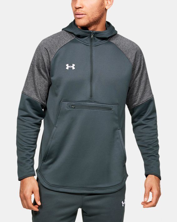 Men's UA Qualifier Fleece Anorak, Gray, pdpMainDesktop image number 0