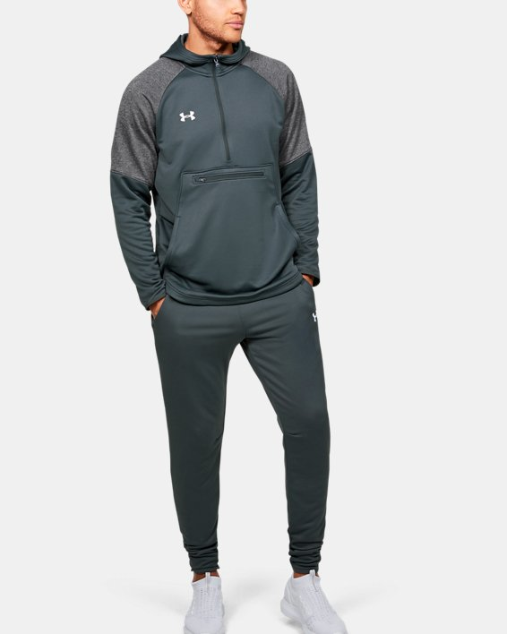 Men's UA Qualifier Fleece Anorak, Gray, pdpMainDesktop image number 1