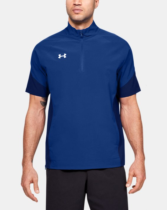 Men's UA Squad Coach's Short Sleeve ¼ Zip, Blue, pdpMainDesktop image number 0
