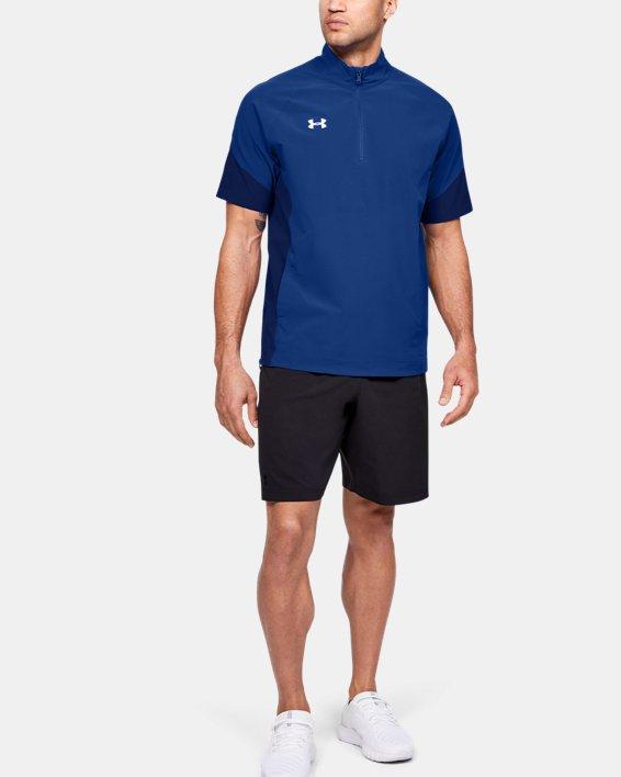 Men's UA Squad Coach's Short Sleeve ¼ Zip, Blue, pdpMainDesktop image number 1