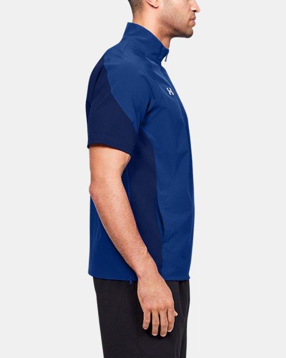 Men's UA Squad Coach's Short Sleeve ¼ Zip, Blue, pdpMainDesktop image number 3