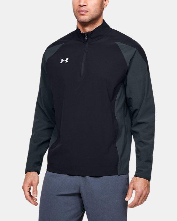 Men's UA Squad Coach's Long Sleeve ¼ Zip, Black, pdpMainDesktop image number 0