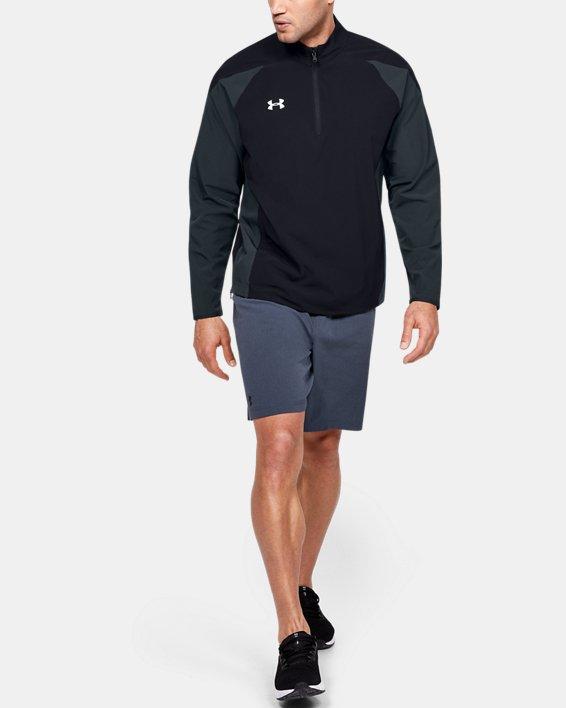 Men's UA Squad Coach's Long Sleeve ¼ Zip, Black, pdpMainDesktop image number 1