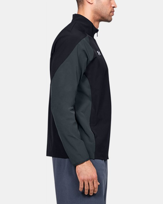 Men's UA Squad Coach's Long Sleeve ¼ Zip, Black, pdpMainDesktop image number 3