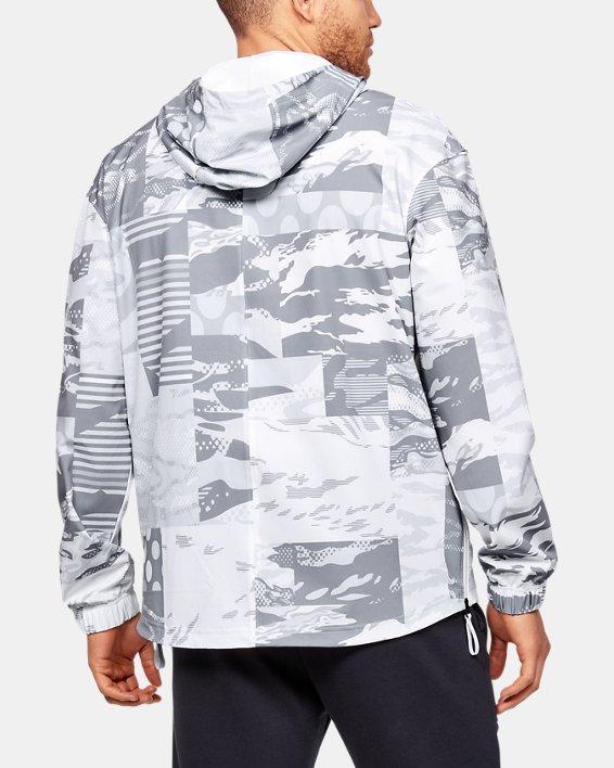 Men's UA Moments Wind Jacket, White, pdpMainDesktop image number 2