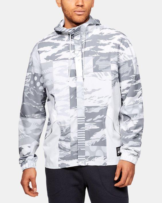 Men's UA Moments Wind Jacket, White, pdpMainDesktop image number 0