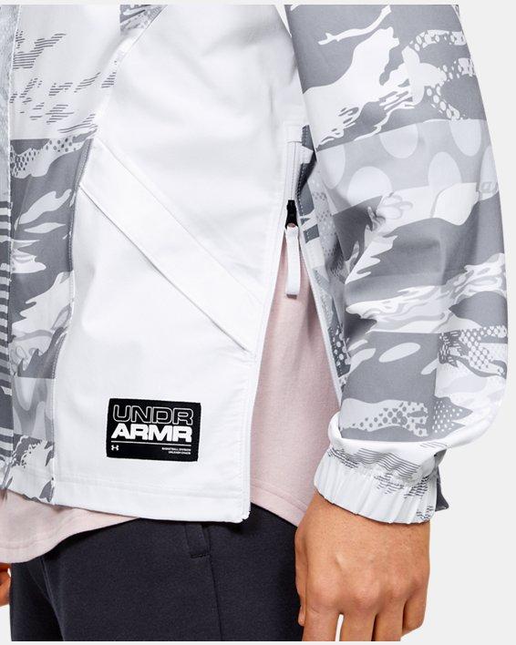 Men's UA Moments Wind Jacket, White, pdpMainDesktop image number 3