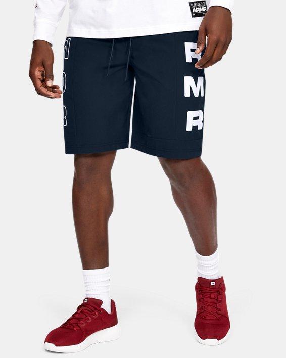 Men's UA Moments Wind Shorts, Navy, pdpMainDesktop image number 2