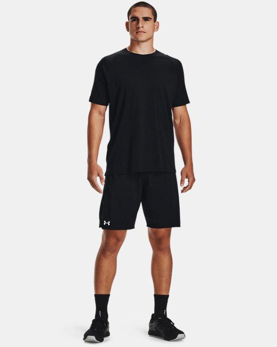 """Men's UA Locker 9"""" Pocketed Shorts, Black, pdpMainDesktop image number 1"""