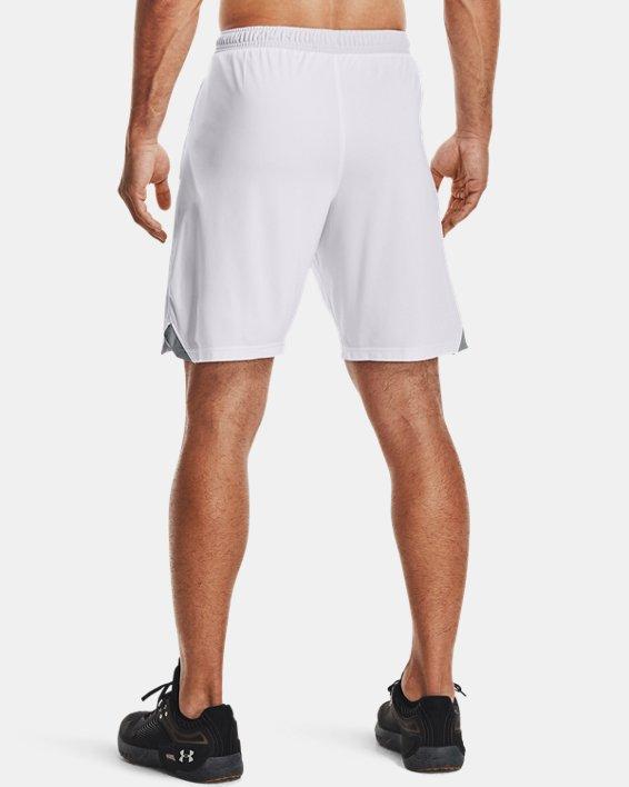 "Men's UA Locker 9"" Pocketed Shorts, White, pdpMainDesktop image number 2"