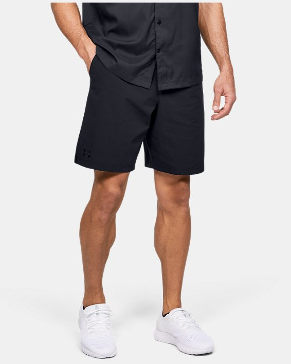 Men's UA Motivator Vented Coach's Shorts, Black, pdpMainDesktop image number 0