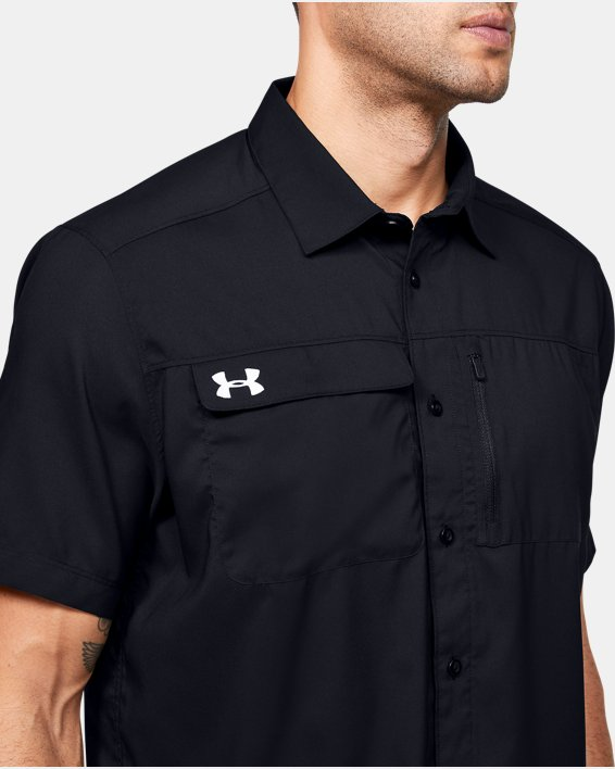 Men's UA Motivator Coach's Button Up Shirt, Black, pdpMainDesktop image number 5