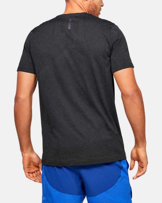 Men's UA RUSH™ Seamless Fitted Short Sleeve, Black, pdpMainDesktop image number 2