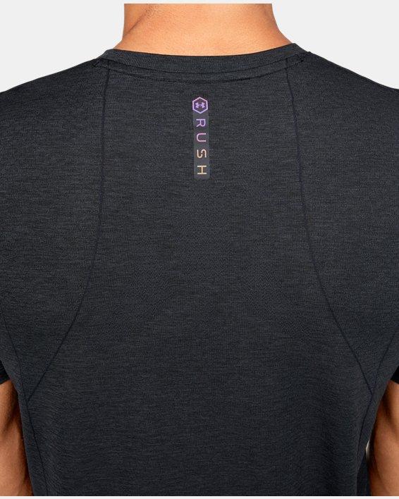 Men's UA RUSH™ Seamless Fitted Short Sleeve, Black, pdpMainDesktop image number 5