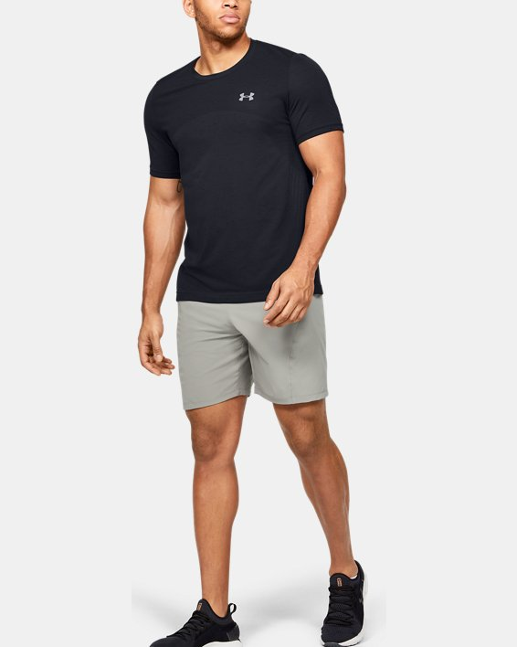 Men's UA Seamless Short Sleeve, Black, pdpMainDesktop image number 1