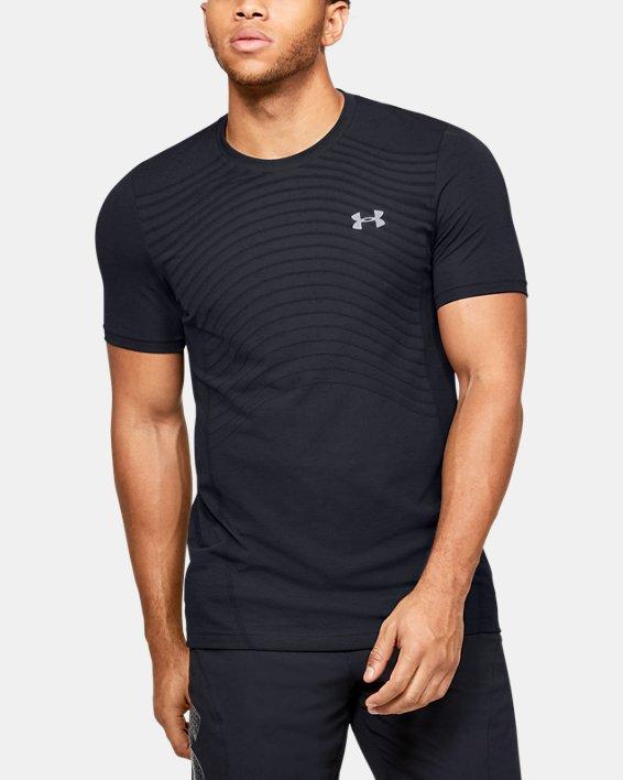 Men's UA Seamless Wave Short Sleeve, Black, pdpMainDesktop image number 0