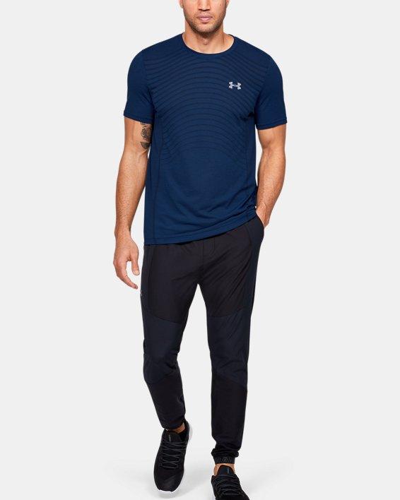 Men's UA Seamless Wave Short Sleeve, Blue, pdpMainDesktop image number 1
