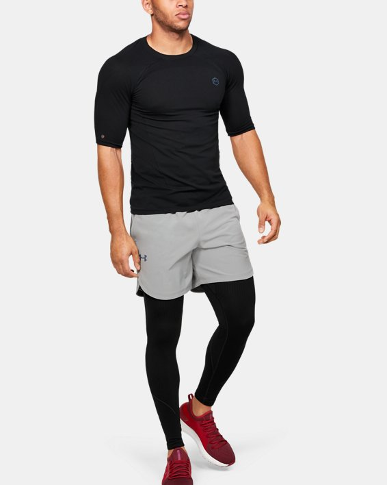 Men's UA RUSH™ Seamless Compression Short Sleeve, Black, pdpMainDesktop image number 1