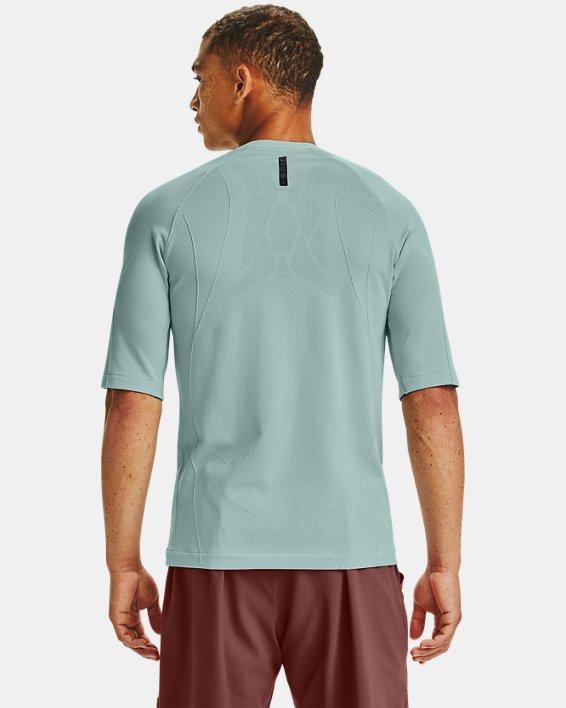 T-shirt à manches courtes UA RUSH™ Seamless Compression pour homme, Blue, pdpMainDesktop image number 1