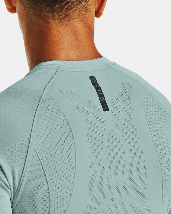 T-shirt à manches courtes UA RUSH™ Seamless Compression pour homme, Blue, pdpMainDesktop image number 4