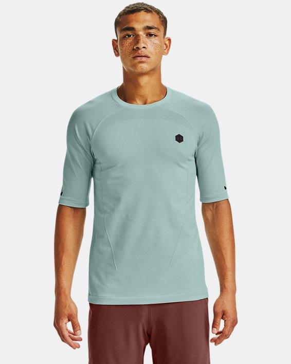 T-shirt à manches courtes UA RUSH™ Seamless Compression pour homme, Blue, pdpMainDesktop image number 0