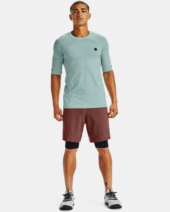T-shirt à manches courtes UA RUSH™ Seamless Compression pour homme, Blue, pdpMainDesktop image number 3