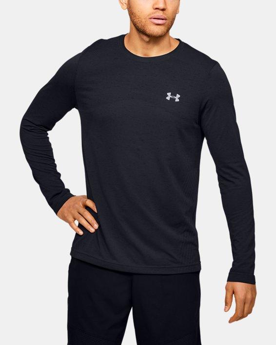 Men's UA Seamless Long Sleeve, Black, pdpMainDesktop image number 0