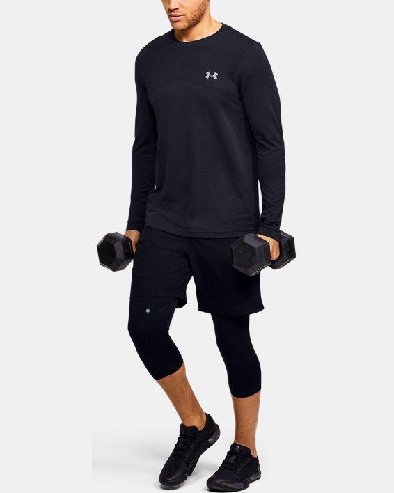 Men's UA Seamless Long Sleeve, Black, pdpMainDesktop image number 1