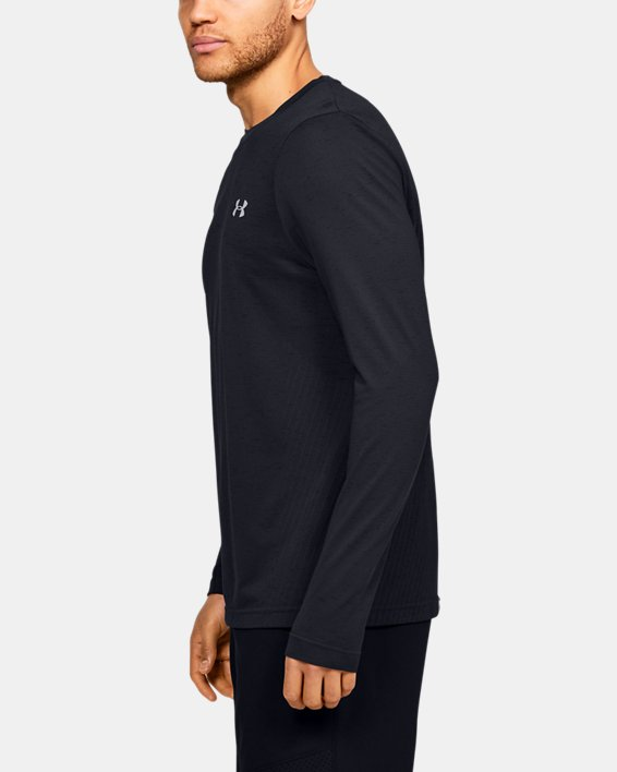 Men's UA Seamless Long Sleeve, Black, pdpMainDesktop image number 3