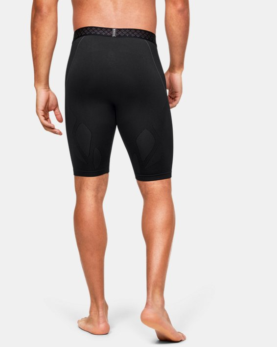 Men's UA RUSH™ Seamless Long Shorts, Black, pdpMainDesktop image number 3